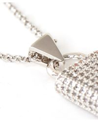 Eddie Borgo - Metallic Silver-plated Crystal Pave Padlock Pendant - Lyst