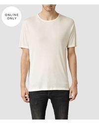 AllSaints - White Natalka Crew T-shirt for Men - Lyst