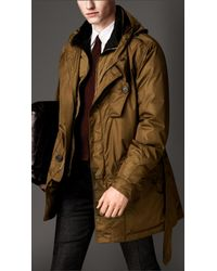 Burberry Metallic Showerproof Hooded Parka with Detachable Warmer for men