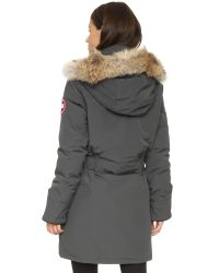 Canada Goose - Gray Rossclair Shell Parka Jacket - Lyst