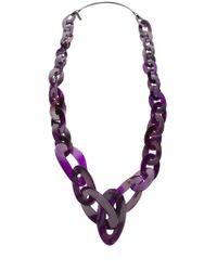 Monies Purple Chain Link Necklace