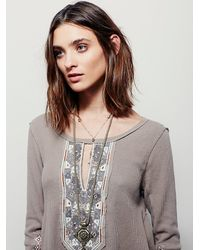 Free People | Natural We The Free January Tee | Lyst