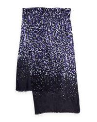 Calvin Klein | Blue Printed Silk Scarf | Lyst