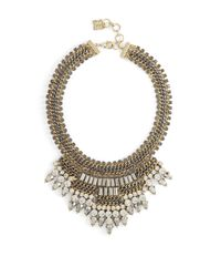 BCBGMAXAZRIA | Multicolor Baguette-stone Statement Necklace | Lyst