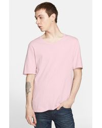BLK DNM | Pink Crewneck T-shirt for Men | Lyst