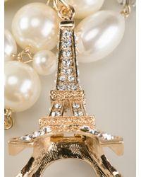 Edward Achour Paris - Metallic Eiffel Tower Detail Necklace - Lyst