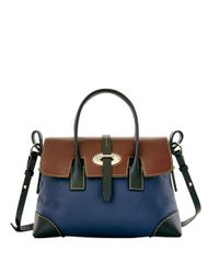 Dooney & Bourke | Blue Verona Elisa Leather Satchel Bag | Lyst