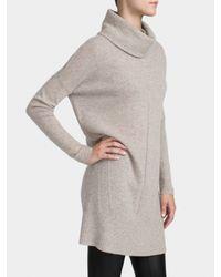 White + Warren Natural Cashmere Wedge Dress
