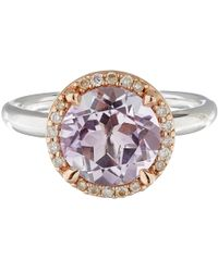 Dinny Hall | Pink Rose De France And Diamond Susu Ring | Lyst