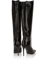 Acne Studios Black Meriall Leather Boots