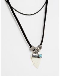 ASOS Black Multi Row Eagle Choker Necklace