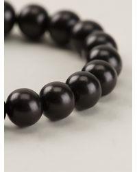 Luis Morais - Black Gold Charm Beaded Bracelet for Men - Lyst