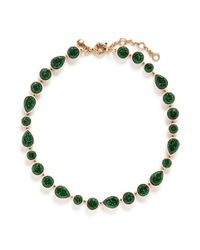 J.Crew - Green Sea Glass Brulée Necklace - Lyst