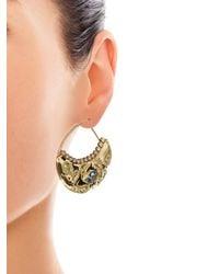 Aurelie Bidermann | Yellow Cashmere Aqua Marina And Diamonds Earrings | Lyst