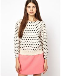 Sonia by Sonia Rykiel | Natural Sweater in Lip Print | Lyst
