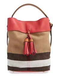 Burberry Multicolor 'Medium Susanna' Bucket Bag