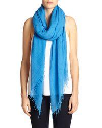 Chan Luu - Blue Cashmere & Silk Scarf - Lyst