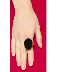 Kenneth Jay Lane - Oversized Ring - Black - Lyst