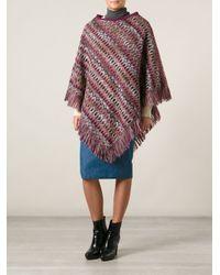 Missoni | Multicolor Long Zigzag Knit Cardigan | Lyst
