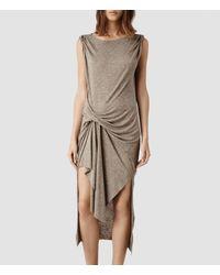 AllSaints - Brown Riviera Tavi Dress - Lyst
