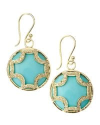 Elizabeth Showers | Blue Turquoise Maltese Dangle & Drop Earrings | Lyst