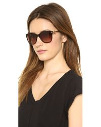 M Missoni Brown Rounded Bottom Sunglasses