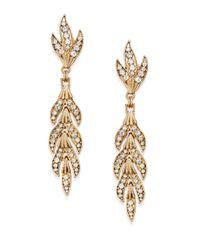 Saks Fifth Avenue - Metallic Sparkle Leaf Drop Earrings - Lyst