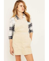 22597b57ea3 BDG Corduroy Pinafore Dress in Natural - Lyst