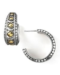 John Hardy | Metallic Naga Wide Hoop Earrings | Lyst