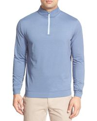 Peter Millar | Blue 'perth' Quarter Zip Terry Pullover for Men | Lyst
