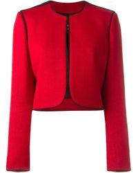 Lanvin - Red Cropped Blazer - Lyst