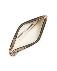 Calvin Klein - Brown White Label Madeline Double Zip Wristlet - Lyst