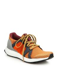 Adidas By Stella McCartney | Orange Ultra Boost Lace-Up Sneakers | Lyst