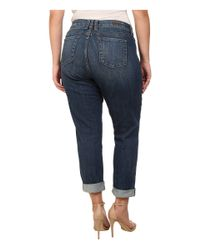 Kut From The Kloth Blue Plus Size Catherine Boyfriend Jeans In Worldly
