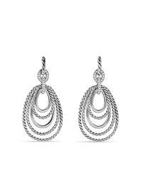 David Yurman - Metallic Mobile Drop Earrings With Diamonds - Lyst