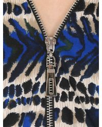 Izabel London - Blue Oversized Animal Print Top - Lyst