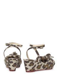 Charlotte Olympia Multicolor Alexa Leopard Print Wedge Sandals