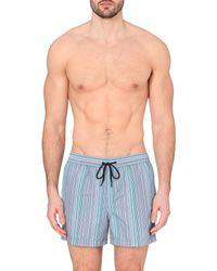 2765ea24b93eb Paul Smith Classic Multi-Stripe Swim Shorts - For Men in Blue for ...