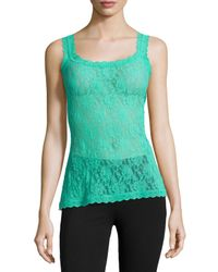 Hanky Panky - Green Signature Lace Unlined Camisole - Lyst