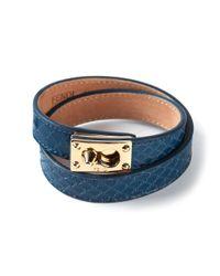 Fendi | Blue Snakeskin Effect Bracelet | Lyst