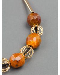 Marni Orange Ribbon-tie Necklace