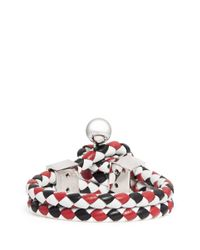 Givenchy - Multicolor Whip Braid Leather Bracelet - Lyst