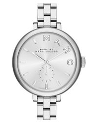 Marc Jacobs | Metallic 'sally' Round Bracelet Watch | Lyst