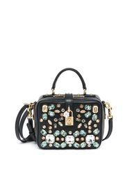 Dolce & Gabbana | Black Embellished Camera Bag | Lyst