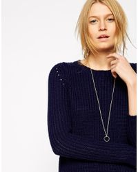 ASOS | Metallic Vintage Style Ring Long Necklace | Lyst