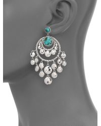 John Hardy - Metallic Palu Turquoise & Sterling Silver Matrix Chandelier Earrings - Lyst