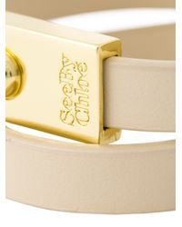 See By Chloé - Natural Double Wrap Bracelet - Lyst