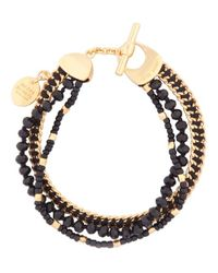 Henri Bendel | Black St Tropez Delicate Bracelet | Lyst