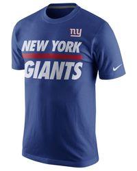 Nike Blue Men's New York Giants Team Stripe T-shirt for men