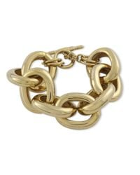 Kenneth Jay Lane | Metallic Polished Gold Chain Link Bracelet | Lyst